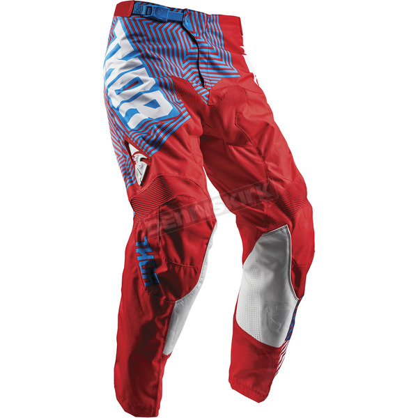 Thor Youth Red/Blue Pulse Geotec Pants - 2903-1551