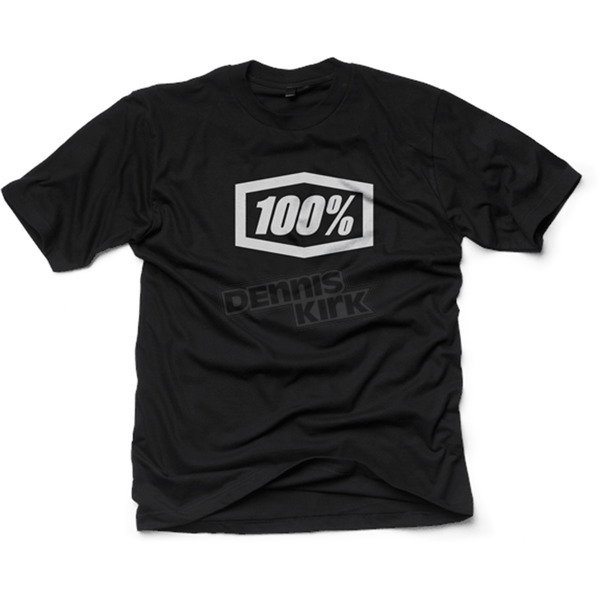100% Black Essential T-Shirt  - 32016-001-13