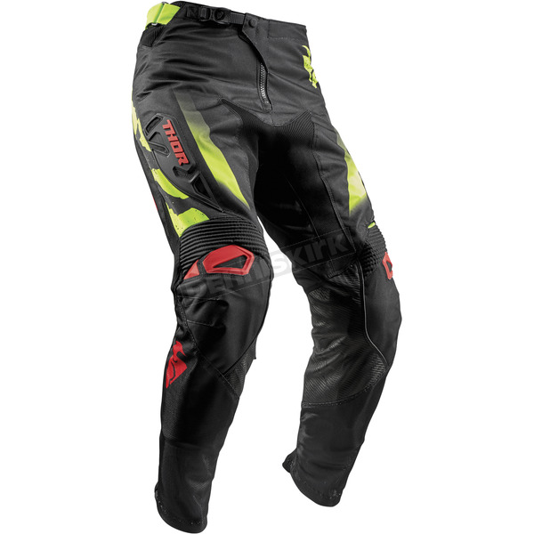 Thor Black/Red/Lime Fuse Rampant Pants - 2901-6567