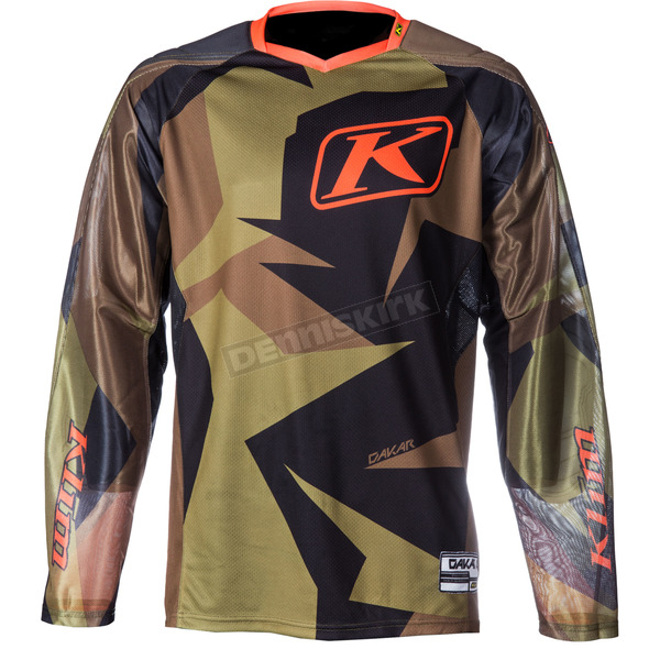 Klim Green/Brown Dakar Jersey - 3315-005-140-300