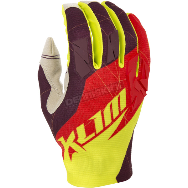 Klim Red/Yellow XC Gloves - 5002-001-170-100