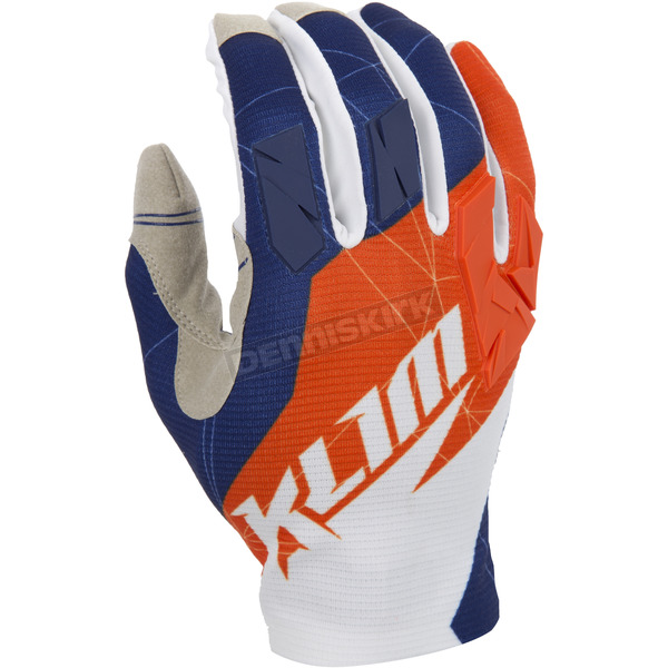 Klim Orange/Blue XC Gloves - 5002-001-170-400