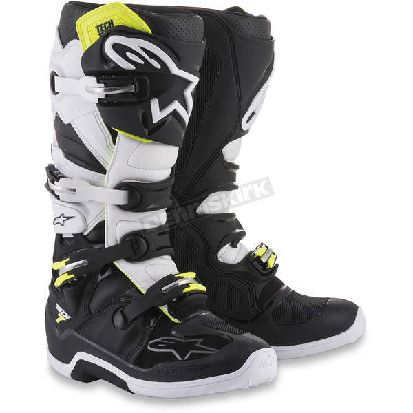 Alpinestars Black/White Tech 7 Boots  - 2012014-12-7