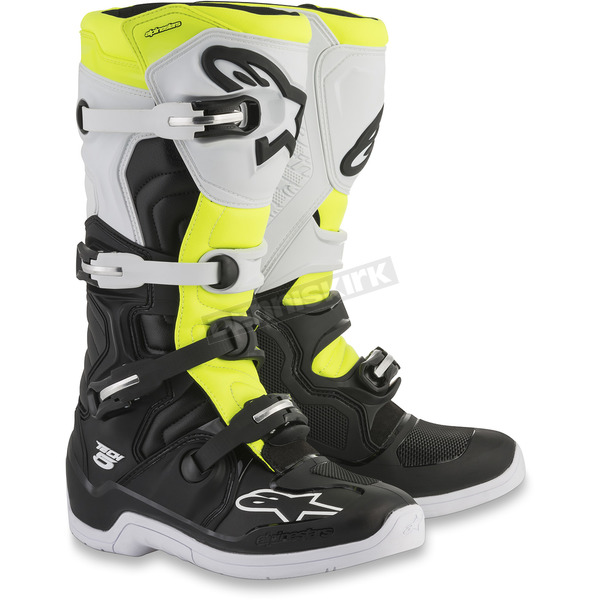 Alpinestars Black/White/Yellow Tech 5 Boots - 2015015-125-11