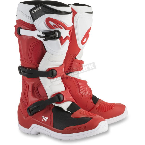 Alpinestars Red/White Tech 3 Boots - 2013018-32-10