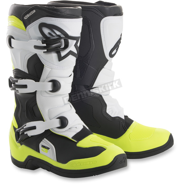 Alpinestars Youth Black/White/Yellow Tech 3S Boots - 2014018-125-6
