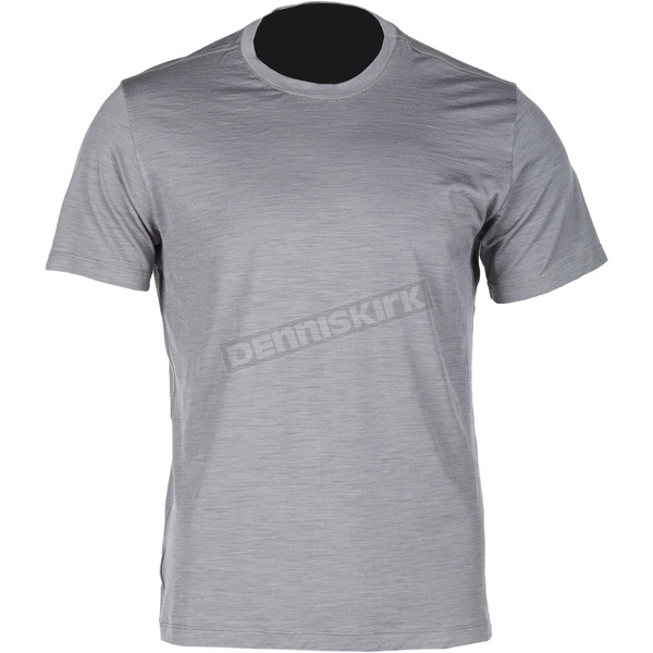 Klim Gray Teton Merino Wool Base Layer T-Shirt - 3711-000-120-600