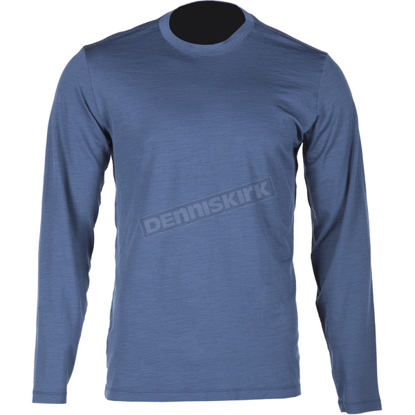Klim Blue Merino Wool Base Layer Long Sleeve Shirt - 3712-000-120-200