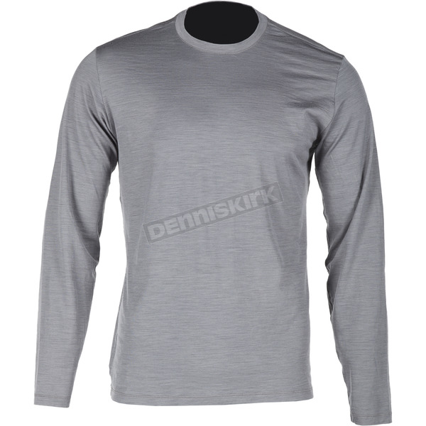 Klim Gray Teton Merino Wool Base Layer Long Sleeve Shirt - 3712-000-130-600