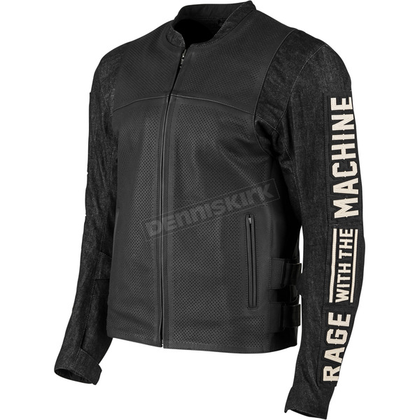 Speed and Strength Rage With The Machine Leather and Denim Jacket - 1101-0200-3056