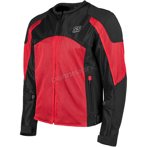 Speed and Strength Red/Black Midnight Express Mesh Jacket - 1101-0201-0956