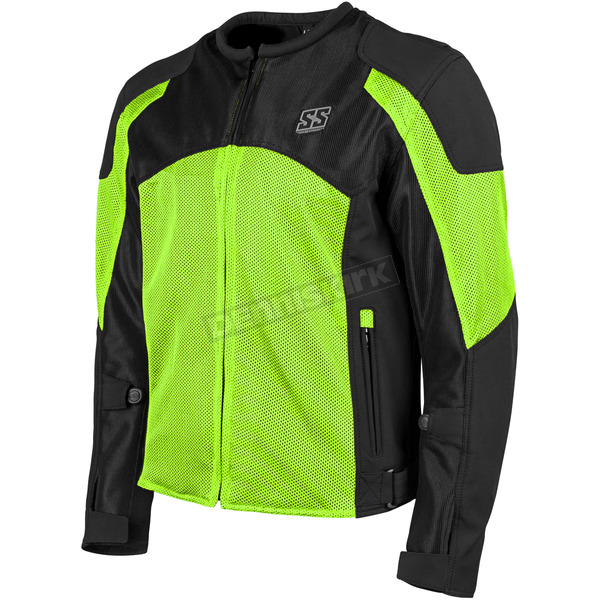 Speed and Strength Hi-Vis Green/Black Midnight Express Mesh Jacket - 1101-0201-4854