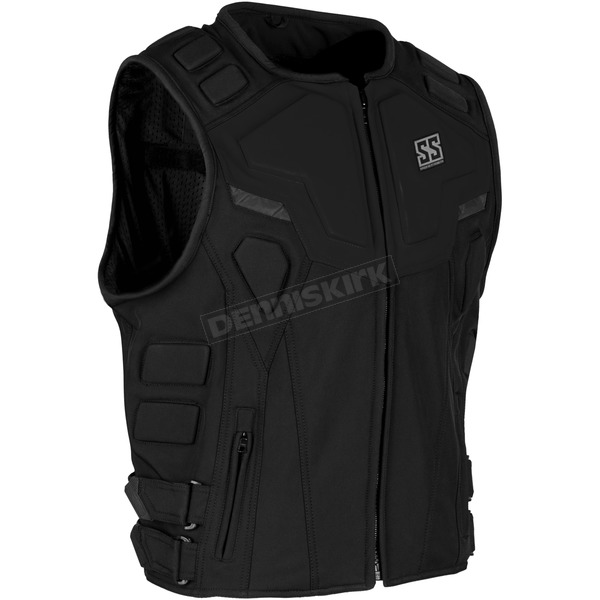 Speed and Strength Black Critical Mass Armored Vest - 1114-0500-0053