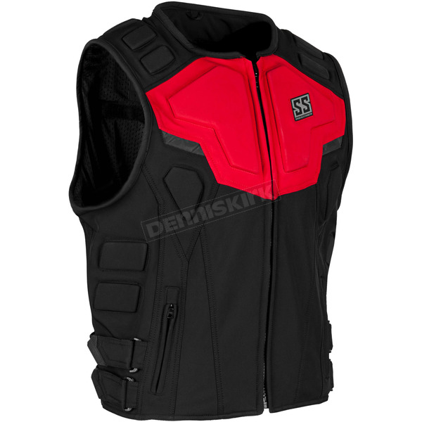 Speed and Strength Red/Black Critical Mass Armored Vest - 1114-0500-0954