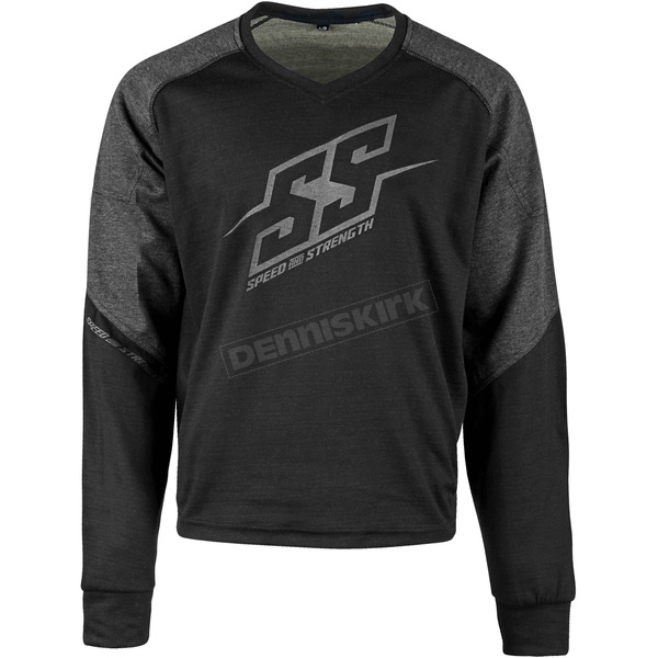 Speed and Strength Black Critical Mass Reinforced Moto Shirt - 1109-0900-0054
