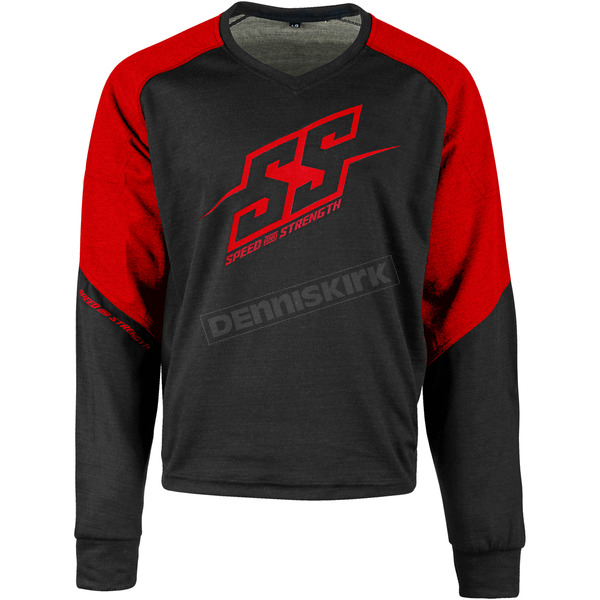 Speed and Strength Red/Black Critical Mass Reinforced Moto Shirt - 1109-0900-0957