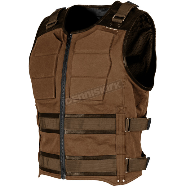 Speed and Strength Brown True Grit Armored Vest - 1114-0501-0152
