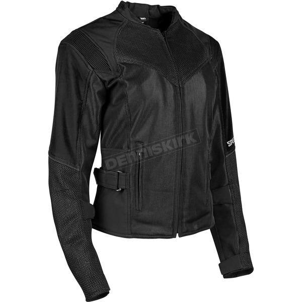 Speed and Strength Women's Black Sinfully Sweet Mesh Jacket - 1101-1202-0056