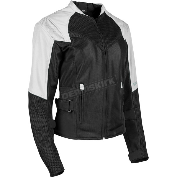 Speed and Strength Women's White/Black Sinfully Sweet Mesh Jacket - 1101-1202-2255