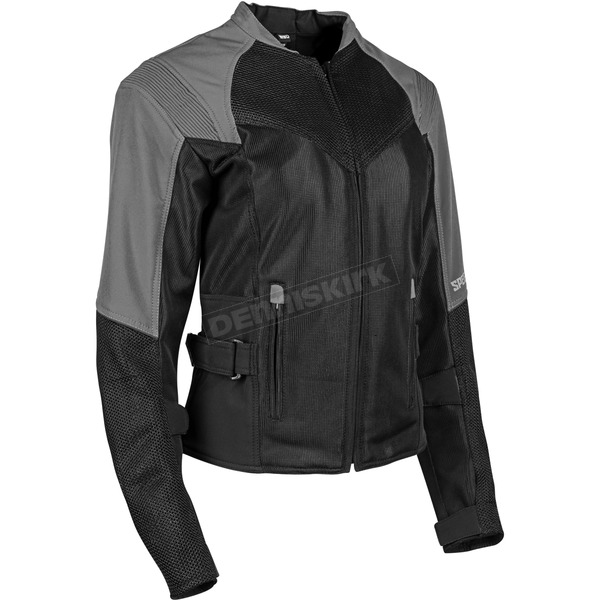 Speed and Strength Women's Silver/Black Sinfully Sweet Mesh Jacket - 1101-1202-0852