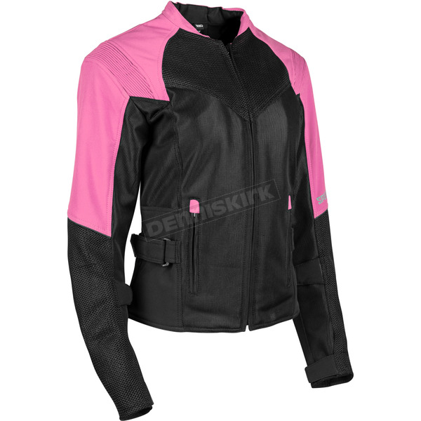 Speed and Strength Women's Pink/Black Sinfully Sweet Mesh Jacket - 1101-1202-0757