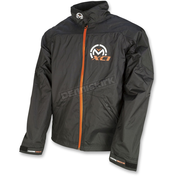 Moose Black XC1 Rain Jacket  - 2920-0502