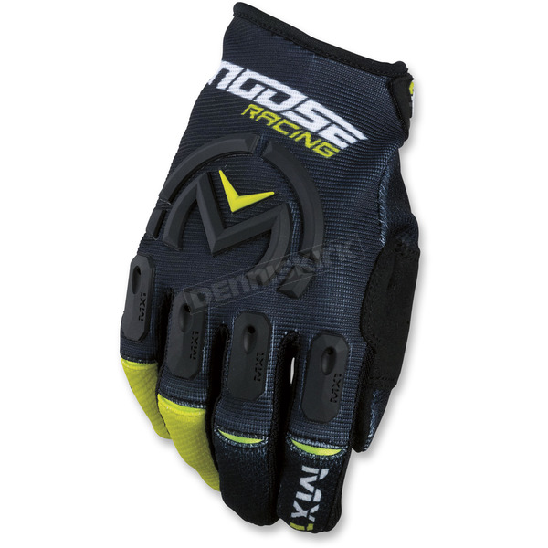 Moose Black/Hi-Viz MX1 Gloves  - 3330-4476
