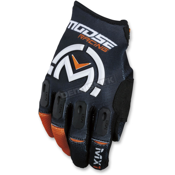 Moose Black/Orange MX1 Gloves  - 3330-4497