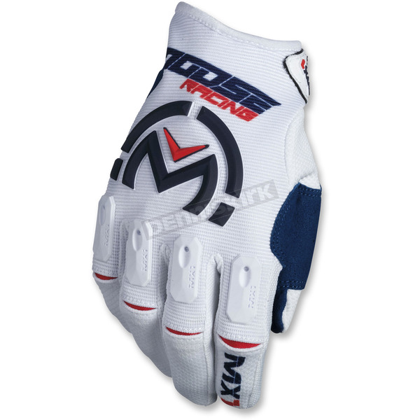 Moose Red/White/Blue MX1 Gloves - 3330-4504