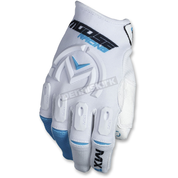 Moose White/Blue MX1 Gloves - 3330-4508