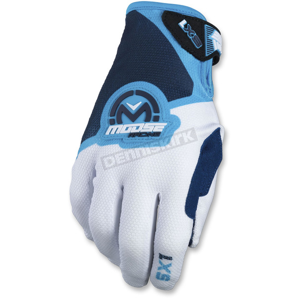 Moose Blue/White SX1 Gloves - 3330-4581