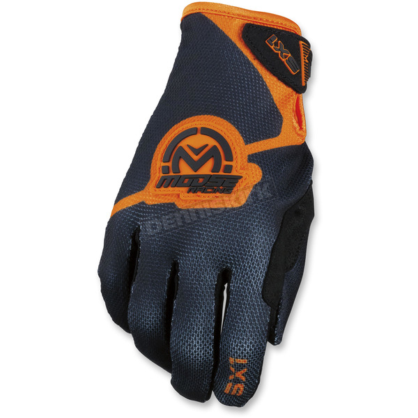 Moose Black/Orange SX1 Gloves - 3330-4593