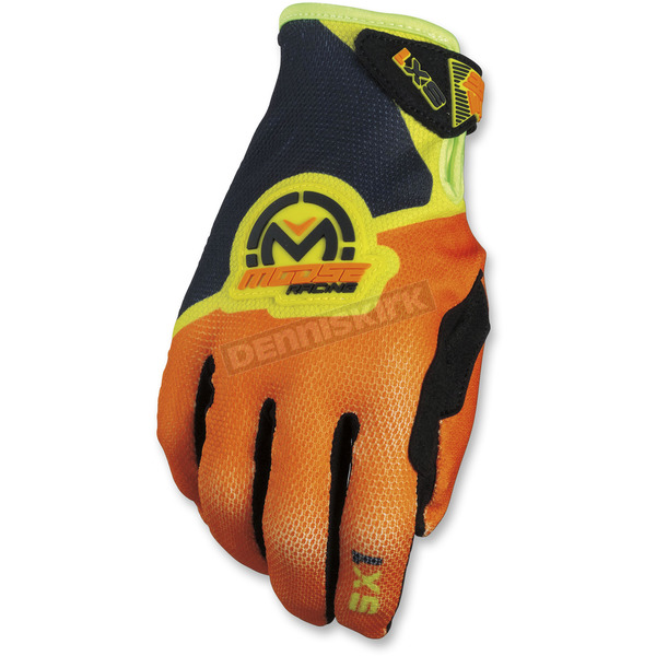 Moose Orange/Hi-Viz SX1 Gloves - 3330-4598