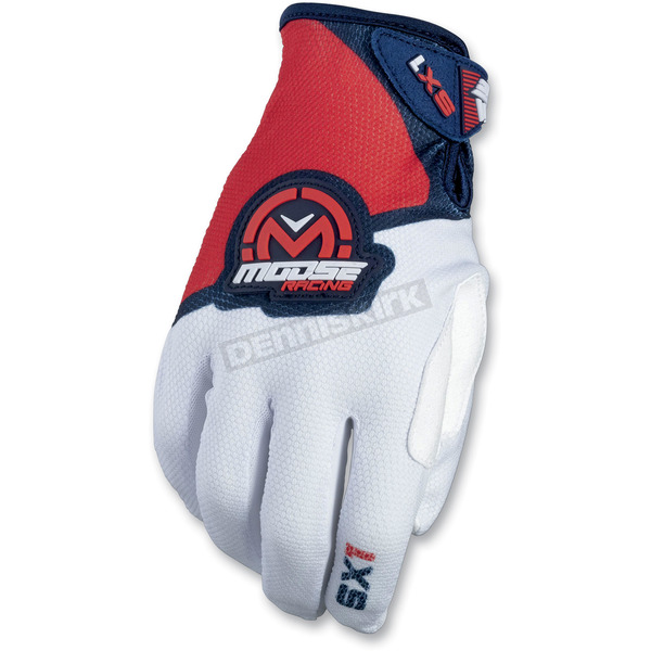 Moose Red/White/Blue SX1 Gloves - 3330-4603