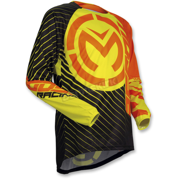 Moose Youth Orange/Hi-Viz Qualifier Jersey - 2912-1576