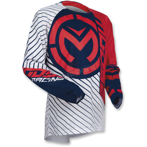 Moose Youth Red/White/Blue Qualifier Jersey - 2912-1584