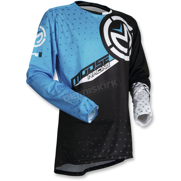 Moose Blue/Black  M1 Jersey - 2910-4497