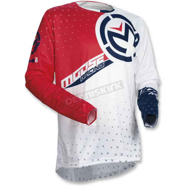Moose Red/White/Blue M1 Jersey - 2910-4517