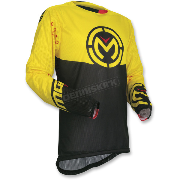 Moose Yellow/Black Sahara Jersey - 2910-4539