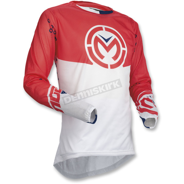 Moose Red/White Sahara Jersey - 2910-4559