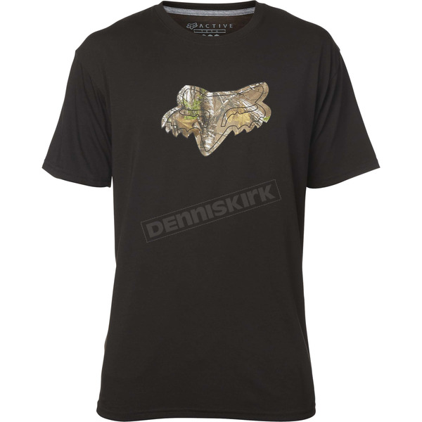 Fox Black Realtree Tech T-Shirt - 19487-001-2X