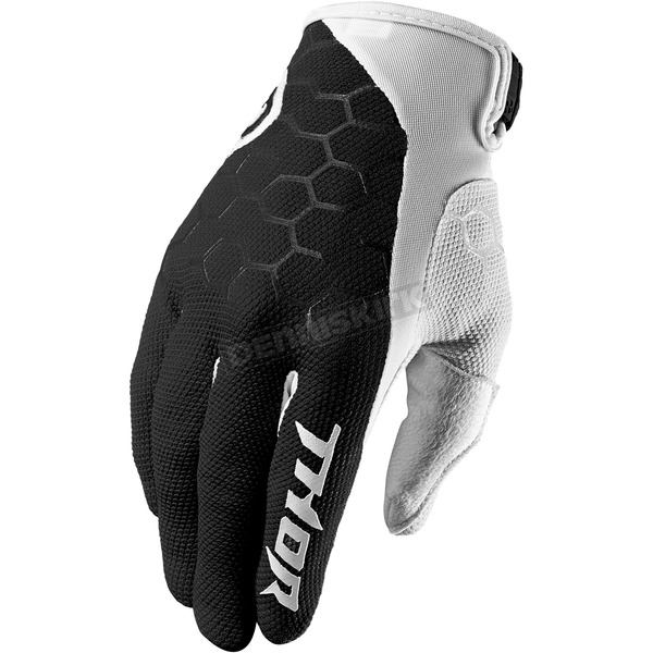 Thor Black/White Draft Gloves - 3330-4624