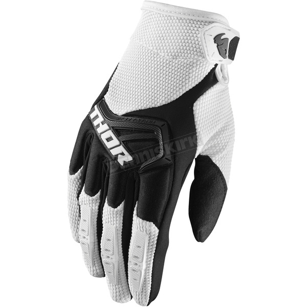 Thor White/Black Spectrum Gloves - 3330-4662