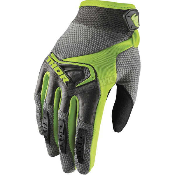 Thor Women's Gray/Lime Spectrum Glove - 3331-0150
