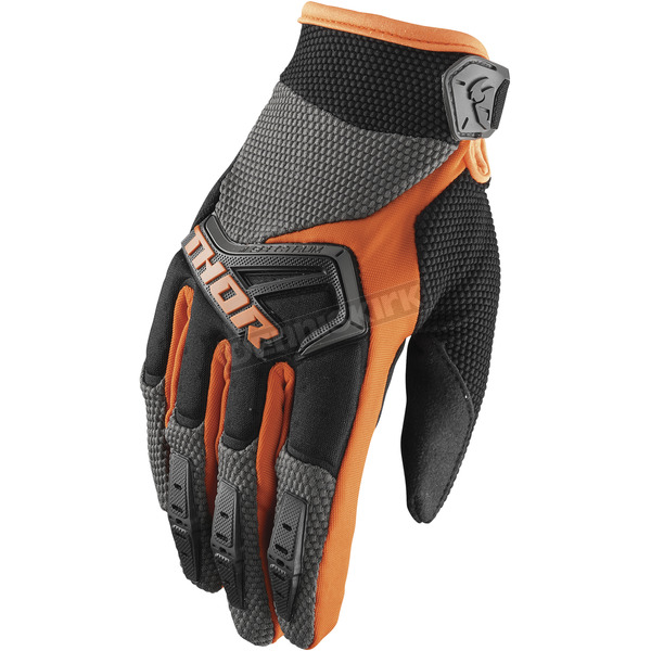 Thor Youth Charcoal/Orange Spectrum Gloves - 3332-1206