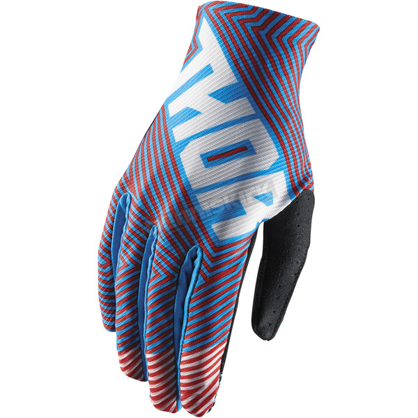 Thor Youth Red/Blue Void Geotec Gloves - 3332-1237