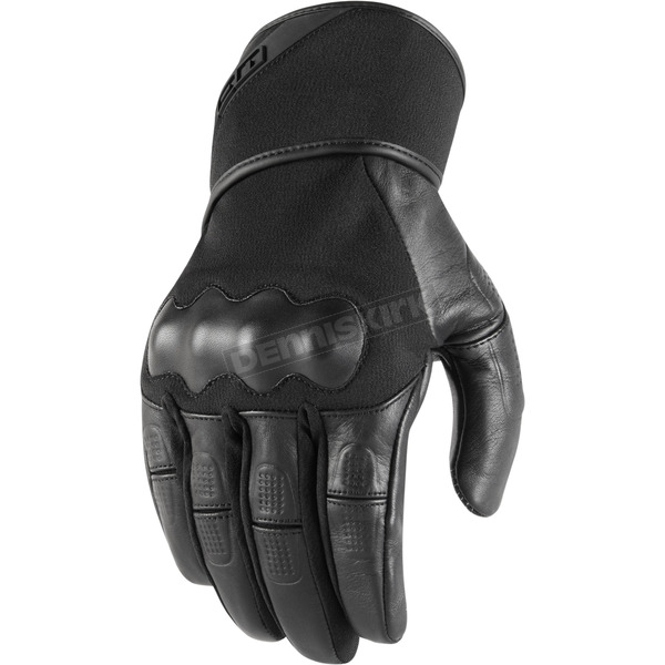 Icon Men's Black Tarmac Gloves - 3301-3065