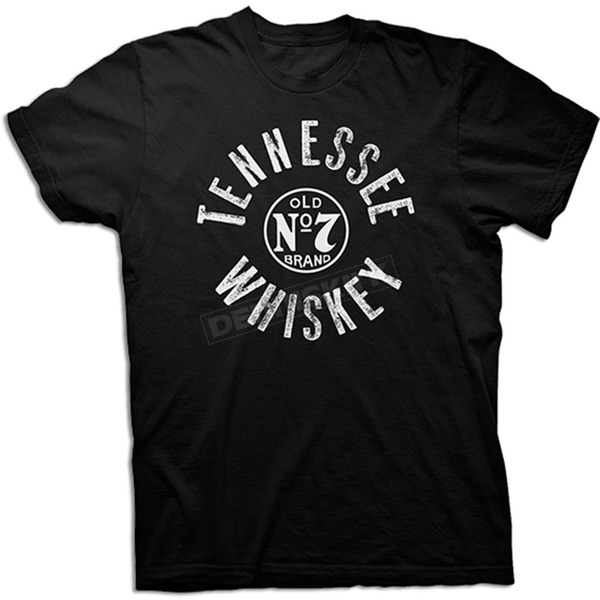 Jack Daniels Black Round Tennessee Whiskey T-Shirt - 15261483JD-89-M