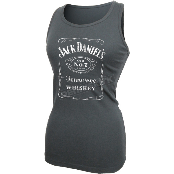 Jack Daniels Women's Charcoal Gray Label Tank Top - 15361404JD-79-L