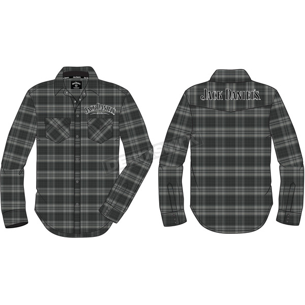 Jack Daniels Charcoal Woven Snap-Front Long Sleeve Shirt - 15203999JD-79-XX